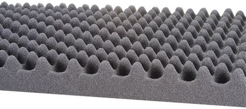 Eggcratefoam on thick carpet padding